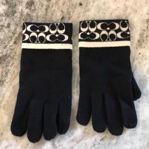 Coach wool gloves